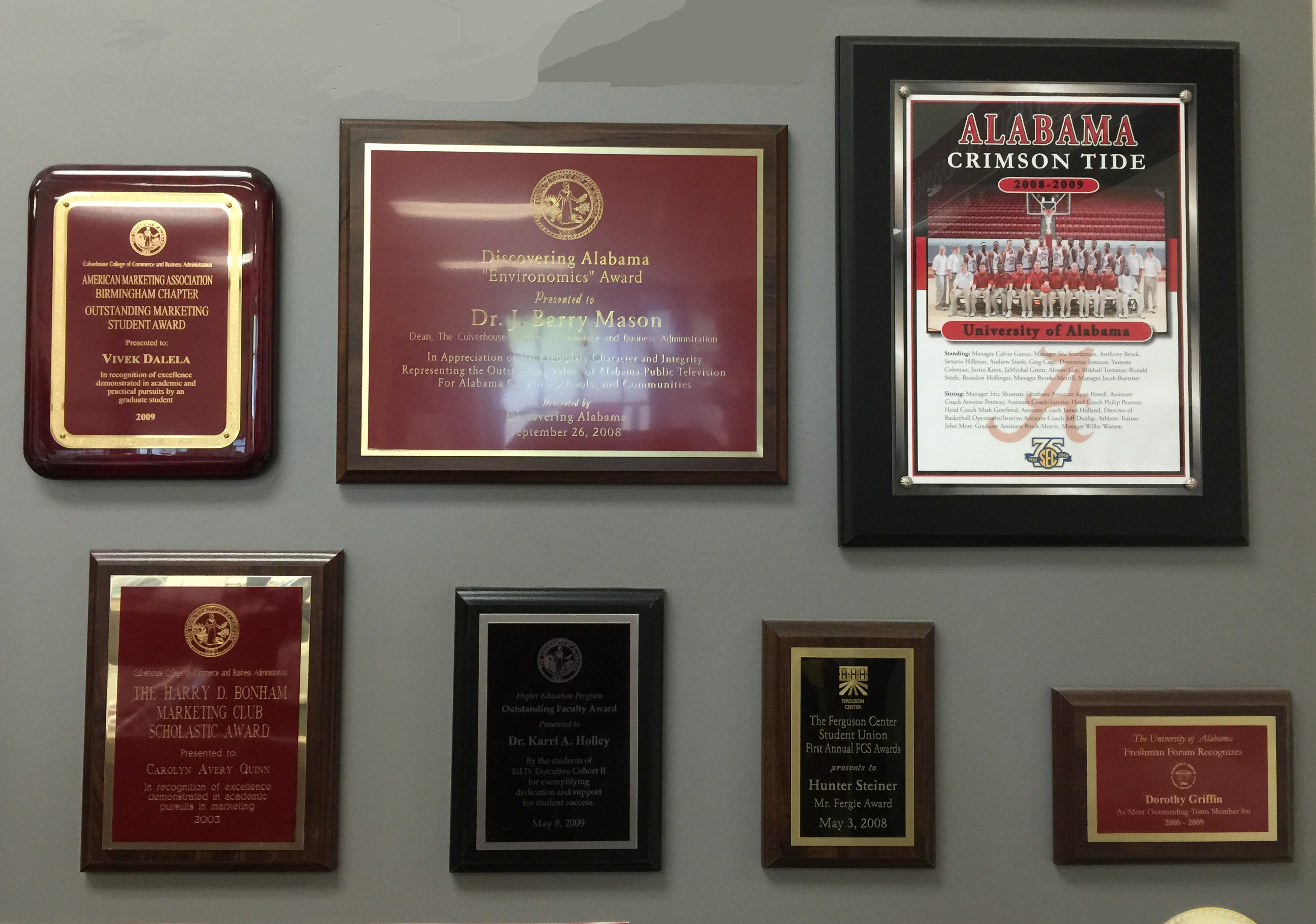 Plaques of every size and description